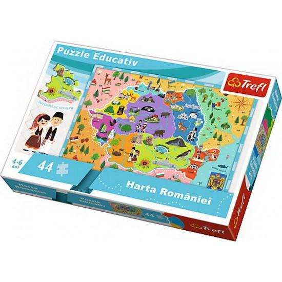 Puzzle educativ Harta Romaniei Trefl 15543