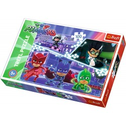 Puzzle 100 piese Eroi in pijamale Trefl 16334