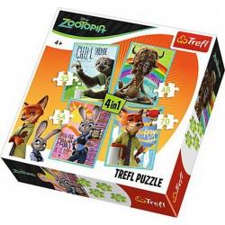 Puzzle 4in1 Zootopia Trefl 34258