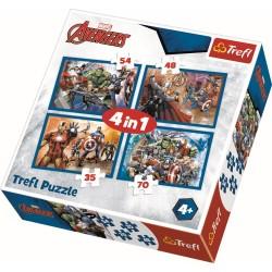 Puzzle 4in1 Avengers Trefl 34310
