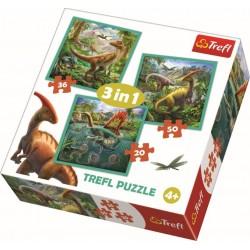 Puzzle 3in1 Dinozauri Trefl 34837