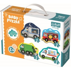 Puzzle Trefl baby vehicule si meserii 36071