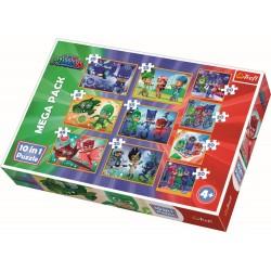 Puzzle Trefl 10in1 Eroi in pijama 90357