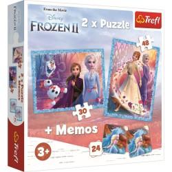 Puzzle Trefl 2in1 memo Frozen II 90814