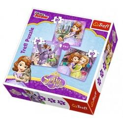 Trefl puzzle 3in1 Sofia