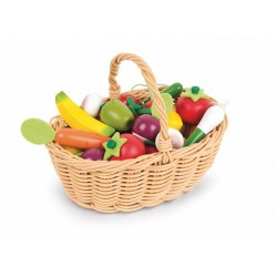 Janod set 24 legume si fructe de lemn