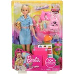 Papusa Barbie Travel Doll FWV25 Mattel
