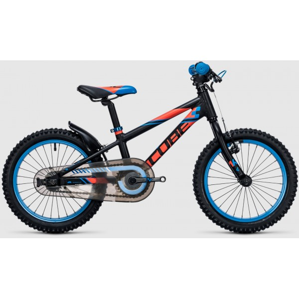 Bicicleta copii CUBE KID 160 Black Flashred 2017