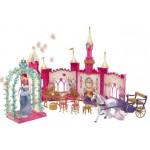 Castel cu caleasca disney princess golden glitter