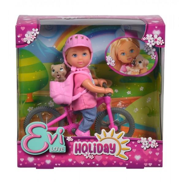 Papusa Evi cu bicicleta Simba-toys 105733273038